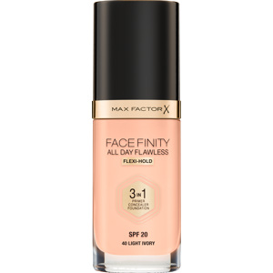 Facefinity All Day Flawless Foundation, 40 Light Ivory