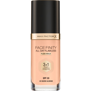 Facefinity All Day Flawless Foundation, 45 Warm Almond