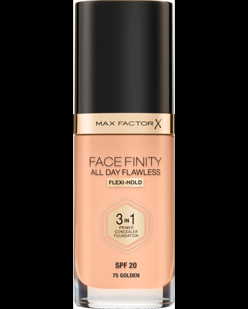 Facefinity All Day Flawless Foundation, 75 Golden