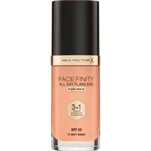 Facefinity All Day Flawless Foundation, 77 Soft Honey