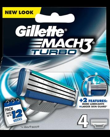 Gillette Mach3 Turbo 4-pack