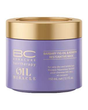 Schwarzkopf Professional BC Miracle Barbary Fig Oil & Keratin Mask, 150ml