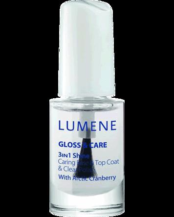 Lumene Gloss & Care 3-In-1 Shine Caring Base & Top Coat, 5ml