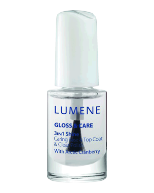Lumene Gloss & Care 3-In-1 Shine Caring Base & Top Coat, 5ml