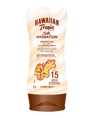 Hawaiian Tropic Silk Hydration Protective Sun Lotion SPF15, 180ml