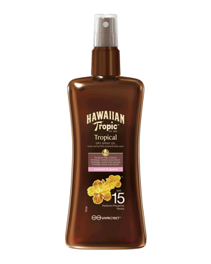 Hawaiian Tropic Protective Dry Spray Oil SPF15, 200ml