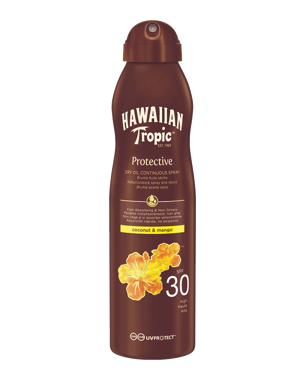 Hawaiian Tropic Dry Oil Coco & Mango Continuous Spray SPF30, 180ml