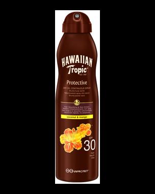 Hawaiian Tropic Dry Oil Coco & Mango Continuous Spray SPF30, 180ml