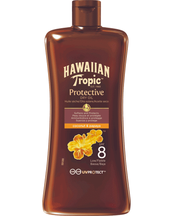 Hawaiian Tropic Protective Oil SPF8, 100ml