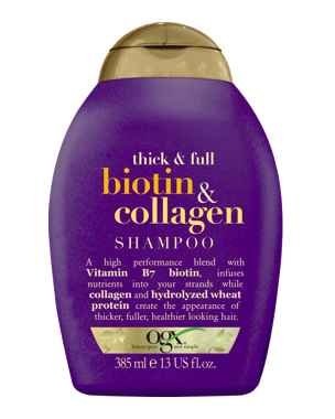 OGX Biotin & Collagen Shampoo, 385ml