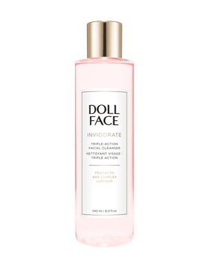 Doll Face Invigorate Triple-Action Facial Cleanser, 240ml