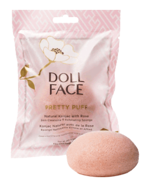 Doll Face Pretty Puff - Rose Konjac Cleansing Sponge