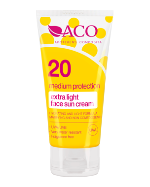 ACO Sun Face Cream SPF20, 50ml