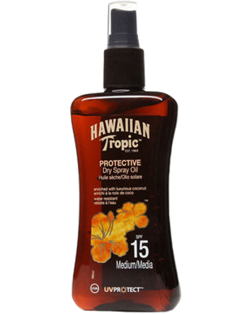 Hawaiian Tropic Protective Dry Oil SPF15, 100ml