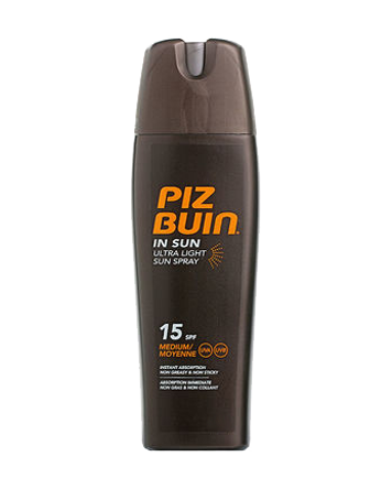 Piz Buin In Sun Ultra Light Sun Spray SPF15, 200ml