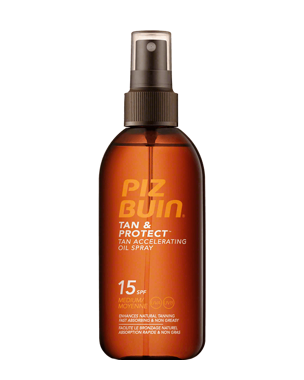 Piz Buin Tan & Protect- Tan Accelerating Oil Spray SPF15, 150ml
