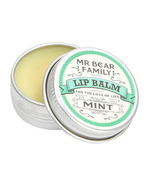 Mr. Bear Family Lip Balm Mint, 15ml