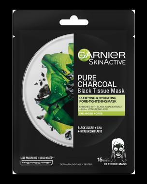 Garnier Charcoal Tissue Mask Black Algae 1 PCS