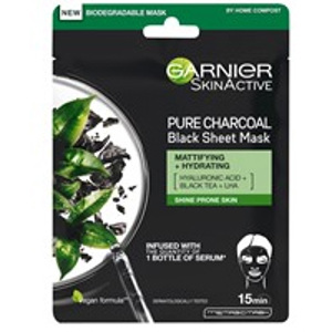 Charcoal Tissue Mask Black Algae 1 PCS