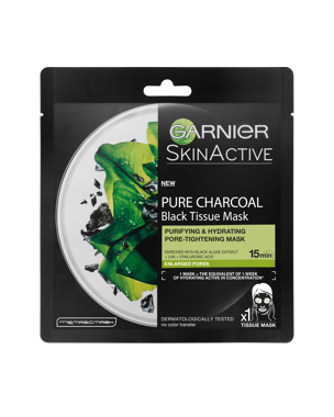 Garnier Charcoal Tissue Mask Black Algae 1 PCS