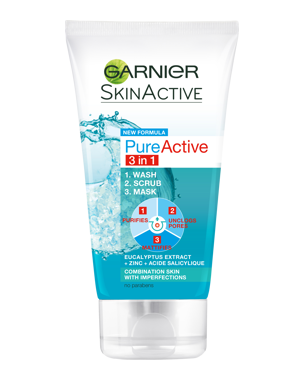 Garnier Pure Active 3 in 1 Wash Peeling & Mask 150ml
