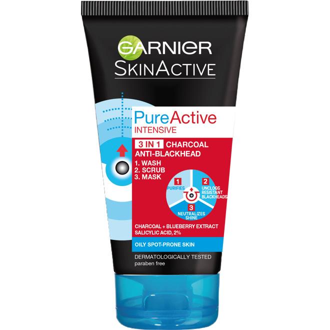 Garnier Pure Active 3in1 Charcoal 150ml