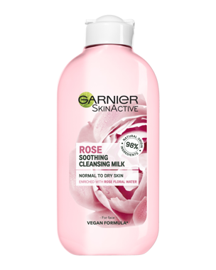 Garnier Cleansing Milk Rose (Dry/Sensitive Skin) 200ml