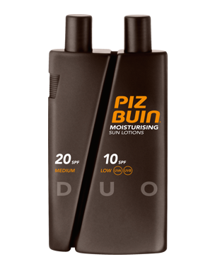 Piz Buin Moisturising Sun Lotion DUO SPF 10/20 300ml