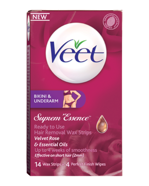 Veet Suprem Essence Cold Wax Strips Bikini & Underarm 14PCS