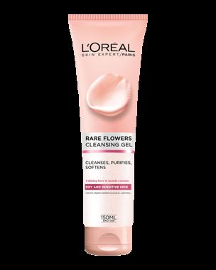 L'Oréal Rare Flowers Cleansing Gel Dry/Sensitive 150ml