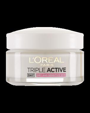L'Oréal Triple Active Moisturising Cream (Dry/Sens) 50ml