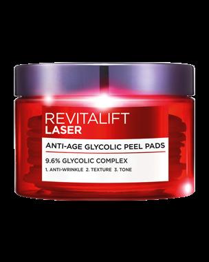 L'Oréal Revitalift Laser Glycolic Peel Pads 30PCS