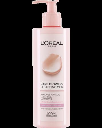 L'Oréal Rare Flowers Cleansing Milk (Dry/Sensitive) 400ml