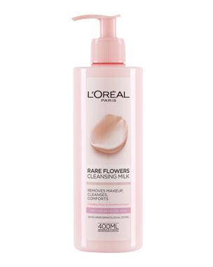 L'Oréal Rare Flowers Cleansing Milk (Dry/Sensitive) 400ml