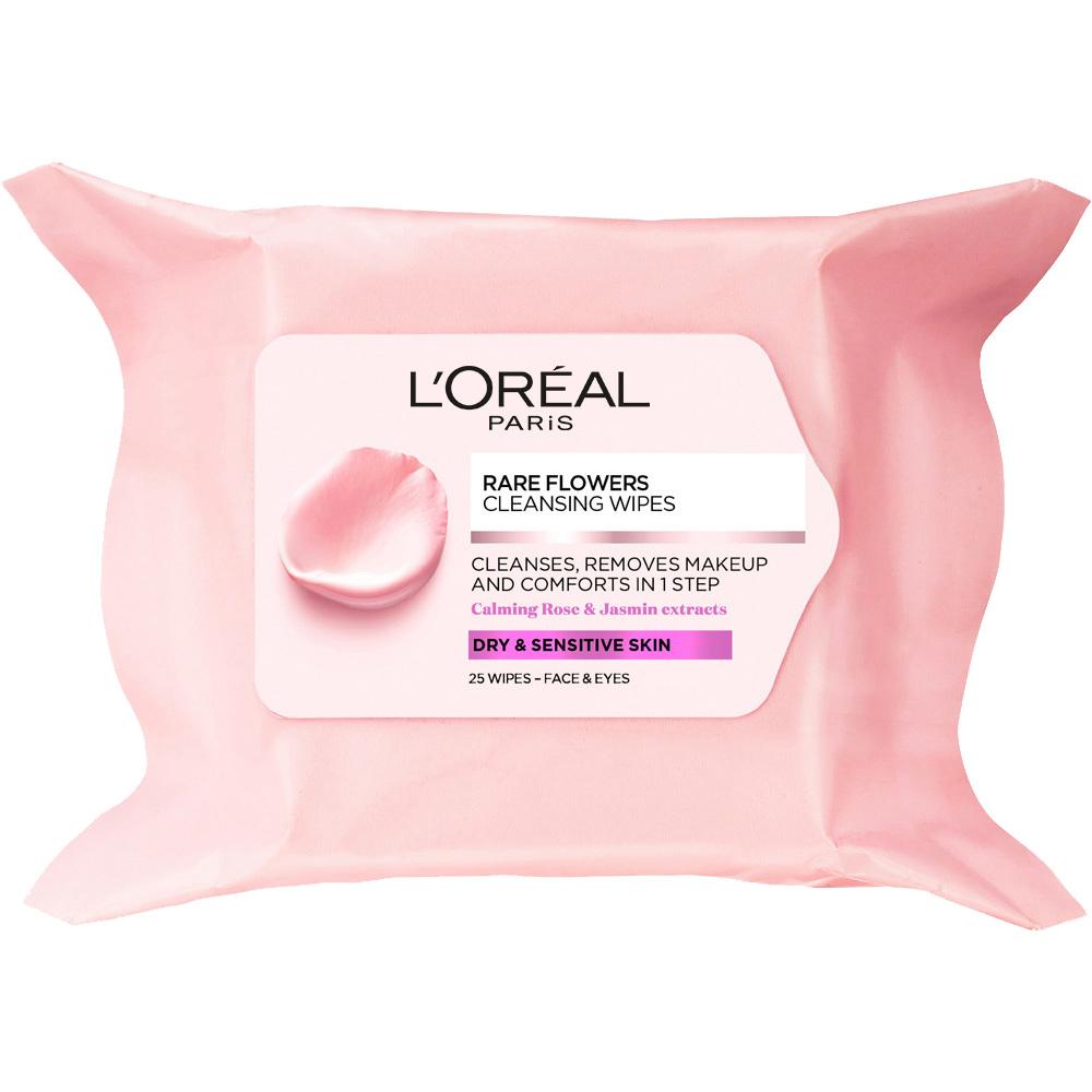 L'Oréal Rare Flowers Cleansing Wipes (Dry/Sensitive) 25PCS