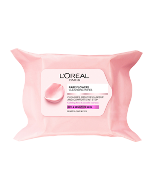 L'Oréal Rare Flowers Cleansing Wipes (Dry/Sensitive) 25PCS