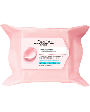 L'Oréal Rare Flowers Cleansing Wipes (Normal Skin) 25PCS