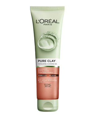 L'Oréal Pure Clay Exfoliating Cleansing Gel 150ml