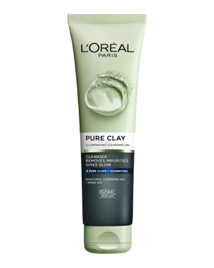 L'Oréal Pure Clay Illuminating Cleansing Gel 150ml