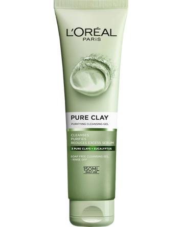 L'Oréal Pure Clay Purifying Cleansing Gel 150ml