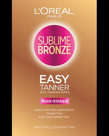 L'Oréal Sublime Bronze Easy Tanner Self Tanning Wipes 2PCS