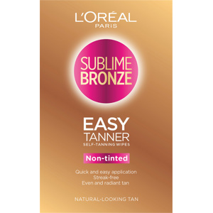 Sublime Bronze Easy Tanner Self Tanning Wipes 2PCS