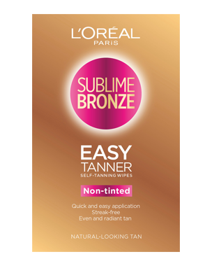L'Oréal Sublime Bronze Easy Tanner Self Tanning Wipes 2PCS