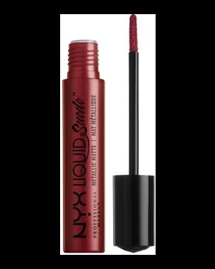 NYX Professional Makeup Liquid Suede Metallic Matte Lipstick