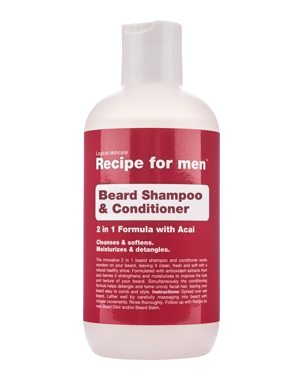 Recipe for Men Recipe for Men Beard Shampoo & Conditioner 250 ml