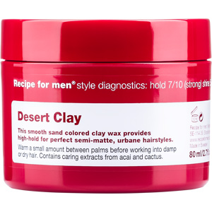 Recipe for Men Dessert Clay Wax 80 ml
