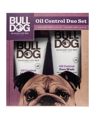 Bulldog Oil Control Moisturiser & Face Wash Duo, 100+150ml