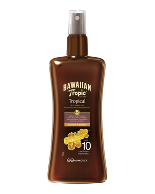 Hawaiian Tropic Protective Dry Spray Oil SPF10, 200ml