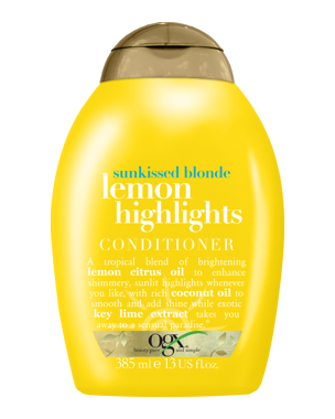 OGX Lemon Highlights Conditioner, 385ml