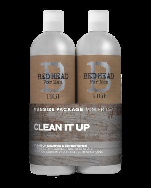 TIGI For Men Clean Up Tweens, 2x750ml